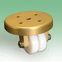 Fixed caster / rod / high load capacity / low-profile wheel