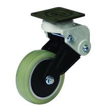 Swivel caster / base plate / shock absorbing / aluminum
