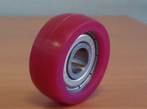 Wheel with solid tire / polyurethane / for conveyors