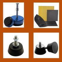 Round anti-vibration mount / rubber / threaded