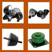 Cylindrical anti-vibration mount / rubber / threaded