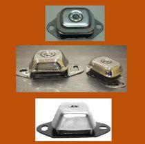 Rectangular anti-vibration mount / rubber / stainless steel