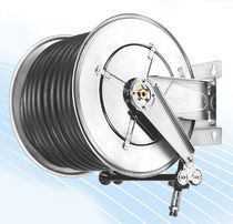 Hose reel / self-retracting / fixed / stainless steel