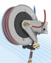 Hose reel / self-retracting / fixed / for oxygen