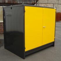 Storage cabinet / floor-mounted / hinged door / double door