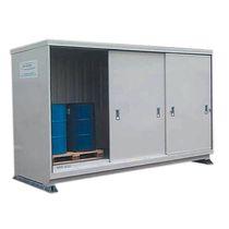 Storage cabinet / floor-mounted / double door / sliding door