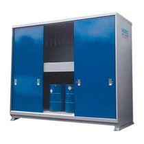 Storage cabinet / floor-mounted / double-door / sliding door