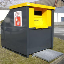 Steel waste container / waste oil / secure / with lid