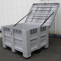 Polyethylene crate / storage / stacking / with lid