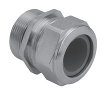 Stainless steel cable gland / IP68 / straight