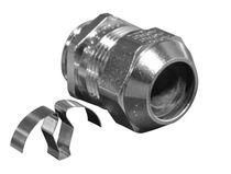 Nickel-plated brass cable gland / EMC-shielded / straight