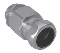 Screw-in fitting / straight / hydraulic / metal