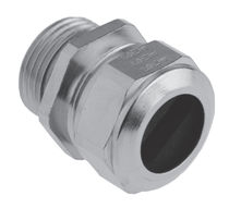 Nickel-plated brass cable gland / IP68 / for flat cables