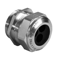 Nickel-plated brass cable gland / explosion-proof / multi-passage