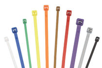 Plastic cable tie / inside serrated