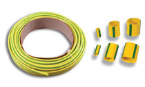 Tubular sleeve / for cables / insulating / PVC