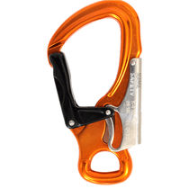 Carabiner / double-action safety / aluminum / symmetrical