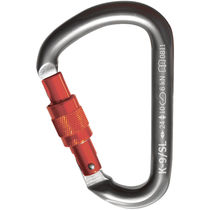 Locking carabiner / aluminum / asymmetrical