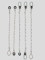 Chain fall arrest lanyard