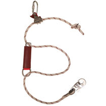 Adjustable fall arrest lanyard