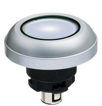 Illuminated push-button switch / industrial / electromechanical / standard