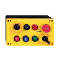 Corded remote control / 6-button / with emergency stop / industrial