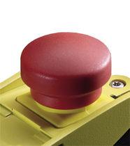 Mushroom push-button switch / plastic / emergency stop / latching