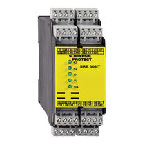 Safety relay / multifunction / emergency stop / DIN rail