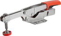 Horizontal toggle clamp / steel / adjustable