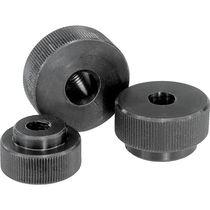 Knurled nut / steel / flat-head