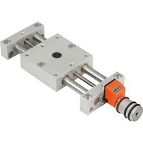 Linear positioning table / precision / with position indicator