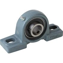Self-aligning bearing unit / bell-shaped / ball bearing / steel