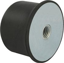 Rubber stop / steel / elastomer / conical