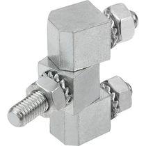 Stainless steel hinge / steel / screw-in / 180°
