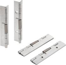 Stainless steel hinge / steel / spring / screw-in