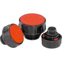 Round plug / threaded / polyethylene / thermoplastic