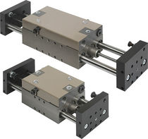 Linear actuator / pneumatic / double-rod / double-acting