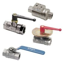 Ball valve / lever / flow control / for compressed air