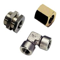 Hydraulic adapter / threaded / brass
