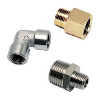 Hydraulic adapter / threaded / stainless steel