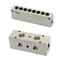 Aluminum manifold / multi-channel / pneumatic