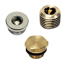Round plug / threaded / steel