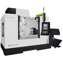 5-axis CNC machining center / vertical / rotating table / tilting-head