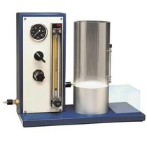 Flowability test device / for powders / paint / compact