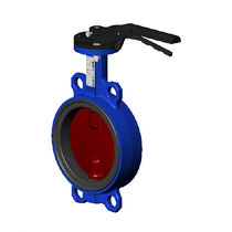 Butterfly valve / lever / for water / for compressed air