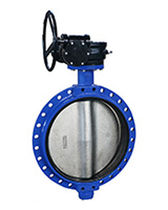 Butterfly valve / with handwheel / for water / sludge