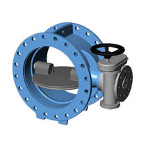 Butterfly valve / with handwheel / for seawater / for potable water