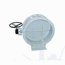 Butterfly valve / with handwheel / for air / flange