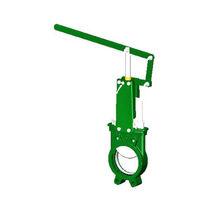 Knife gate valve / lever / for water / cast iron