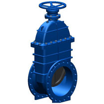 Gate valve / with handwheel / for wastewater / flange